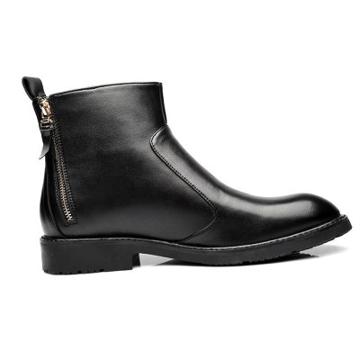 Men Boots Comfortable Warm Ankle Boots Casual Men Leather Boots