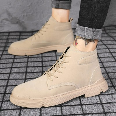 Snow Boots Men's Casual Shoes Winter Flats Warm Sneakers Trend