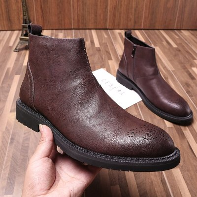 Boots Men Winter Shoes Boots Casual Leather Ankle Boots
