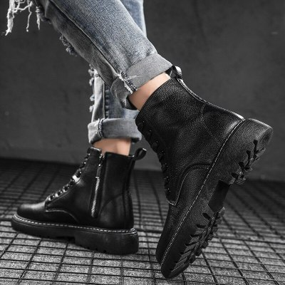 Fashion Men Winter Sneakers Casual  Masculino Motorcycle Boots