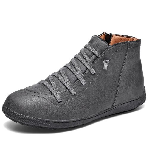 Men Boots Leather Ankle Boots Men Sneakers Casual Shoes