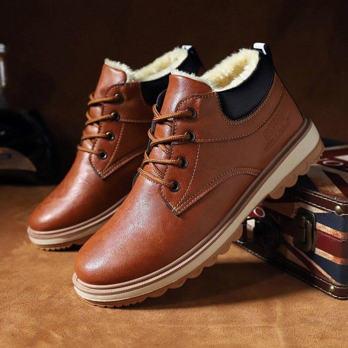 men's fashion shoes men's shoes high-top British style mid-top snow boots