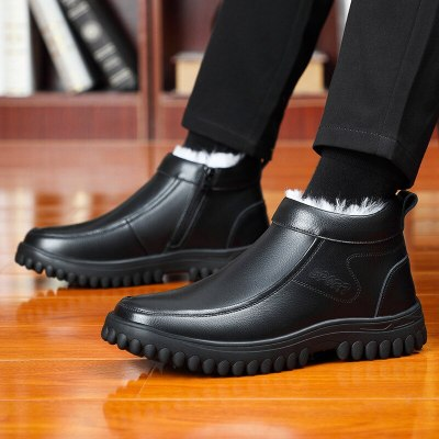 Leather winter boots men Boots Fashion Footwear Shoes Casual Shoes snow boots