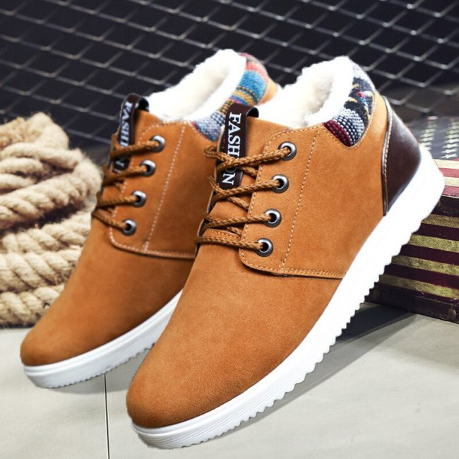 Men Boots Winter Shoes For Men Snow Boots Slip On Ankle Winter Boots