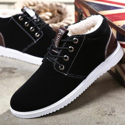 new outdoor casual shoes tooling snow boots men  platform boots