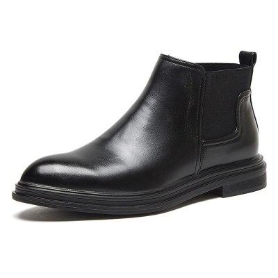 Winter Chelsea Boots Men Leather Shoes Men Ankle Boots Male Footwear