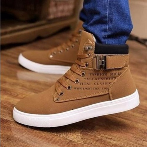 Men's shoes Lace-Up Men Canvas Shoes Ankle Boots Fashion Shoes Flats Footwear