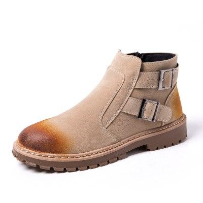 Boots Ankle Fashion Men's Leather Warm boots men