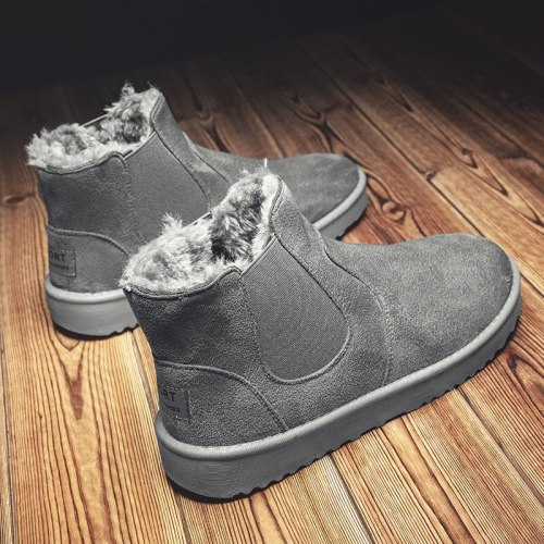 Men ankle Snow Boots Winter Fur Warm Climbing Large Size
