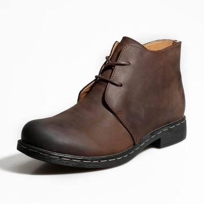 Men Boots Autumn Winter Shoes Men Fashion Lace-up Boots PU Leather