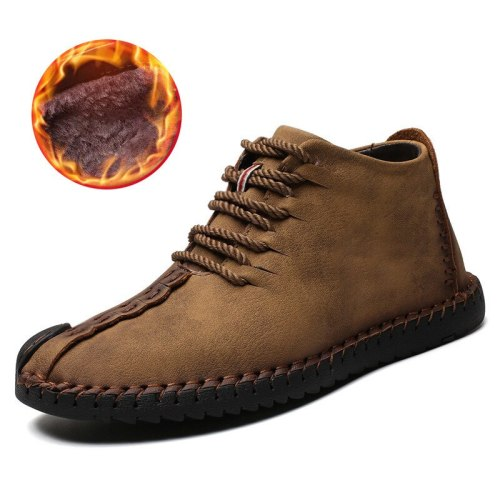 Winter boots for Men Vintage Leather sneakers size  Retro Ankle boots