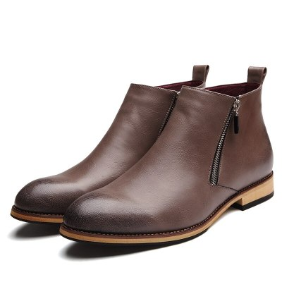 Leather Boots Men Shoes Footwear Party Business Oxfords Ankle Men Boots