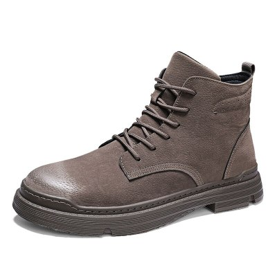 men boots brand comfortable fashion boots leather