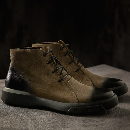 Boots Men Ankle Leather Boots Trend Gentlemen Charming Boots