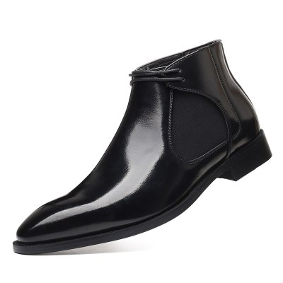 British Pointed Boots for Men Spring Business Chelsea Boots Men