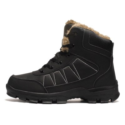 Leather Winter Men Boots Men Outdoor Winter Work Casual Shoes