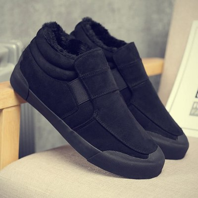 winter section suede soft bottom short plush fashion casual men's boots