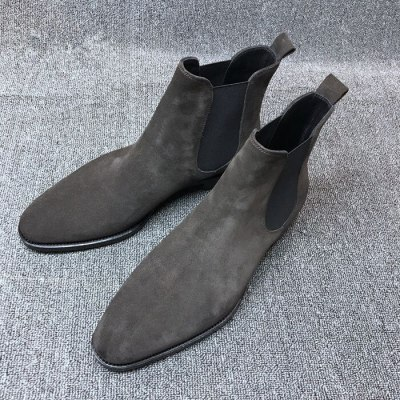 Boots Men Suede Leather Ankle Casual Shoes Style Spring Winter Boot