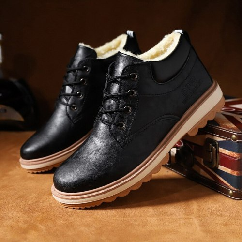 men's fashion shoes men's shoes high-top British style mid-top snow boots