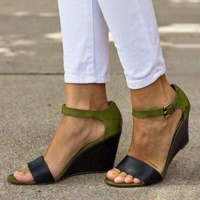 New wedges sandals women gladiator high heels open toe ladies shoes