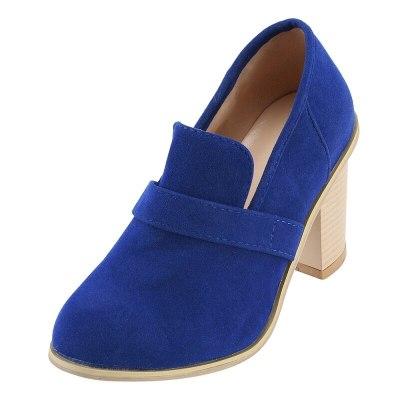 Women shoes  pumps ladies vintage thick high heels platform shoes