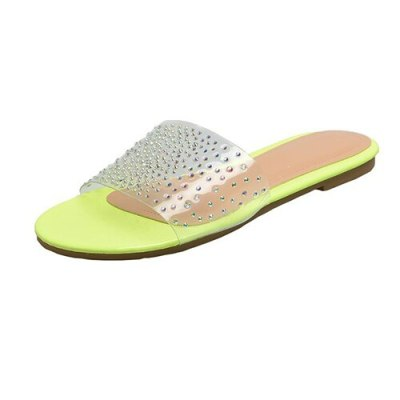 Women Crystal Flat Slippers Female Sexy Open Toe Jelly Shoes