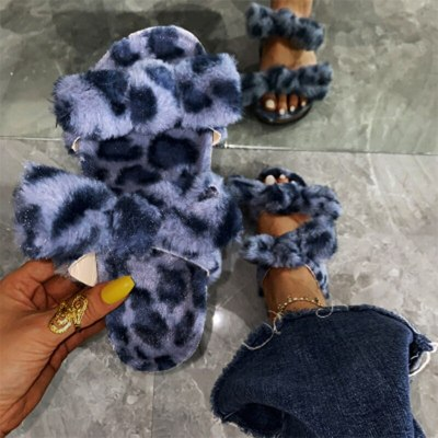 Winter Home Slippers Women Cotton Female Warm Thick Bottomed Shoes