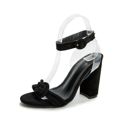 Summer women sandals block high heels sandals sexy  ankle strap shoes