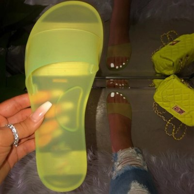 Women Crystal Slippers Jelly shoes Woman Candy Colors Shoes