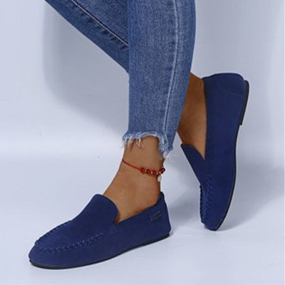 Women Solid Flock Autumn  Platform Shoes Female Fashion Footwear