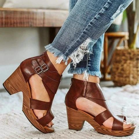 Fashion Women Summer Shoes High Heels Sandals Wedges Shoes Woman Vintage Platform