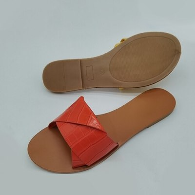 Women Slippers Toe Flat Casual Slides Candy Color Shoes