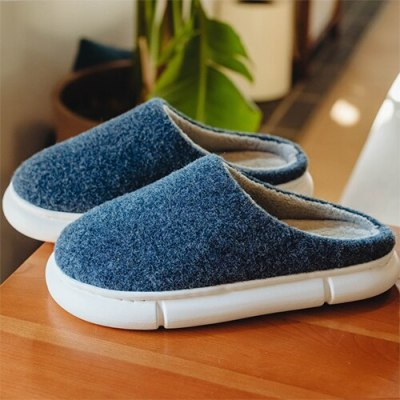 Winter Home Slippers Women Cotton Female Warm Plush Big Size Footwear