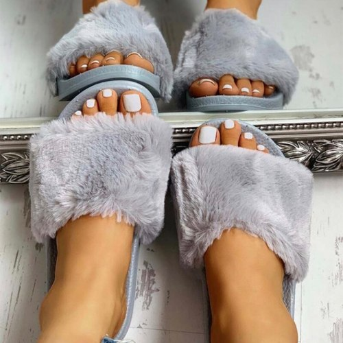 Women Slippers Fashion Short Comfortable Open Toe Shoes