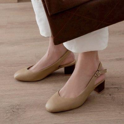 Heels buckle Strap concise sandals  office shoes women sandals