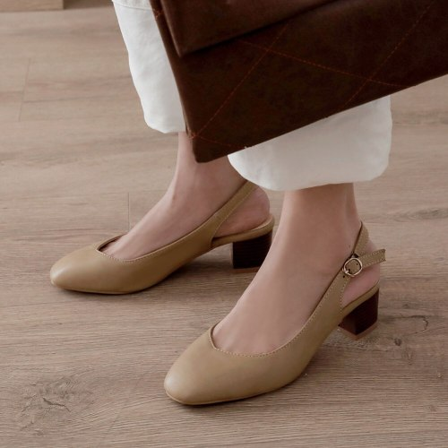 Heels buckle Strap concise sandals  office shoes women sandals