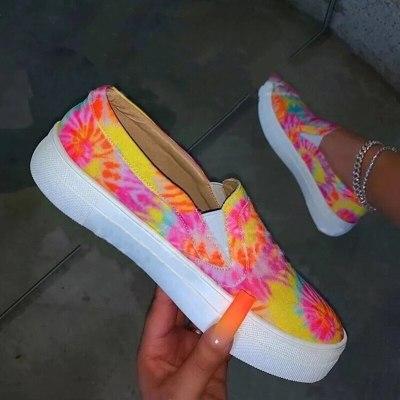 Fashion Ladies Flat Shoes Mixed Color  Flat  Ladies Women Single Shoes