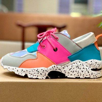 Fashion Chunky Sneakers Comfortable Casual Shoes Women All Match Flat