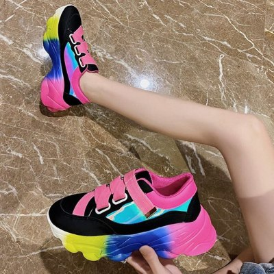 New Chic INS Hot Stylish Winter Shoes Colorful Leisure Sneakers