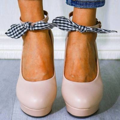 Women's High Heels New Plus Size  Bow Tie Party Shoes Pumps