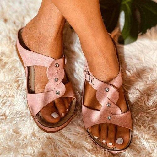 Slides Flat Summer 2020 Women Gladiator Shoes Fashion slippers