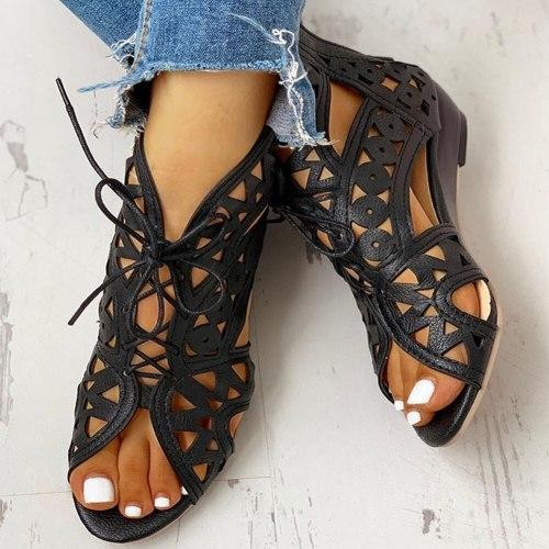 summer boot sandals woman leisure wedge heel comfort women shoes