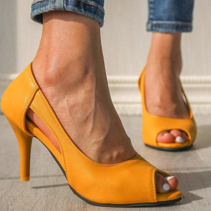 Hollow High Heels Summer Pumps Shoes Woman