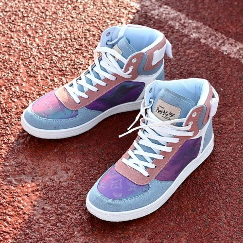 high-top shoes light and comfortable breathable trend  casual  shoes