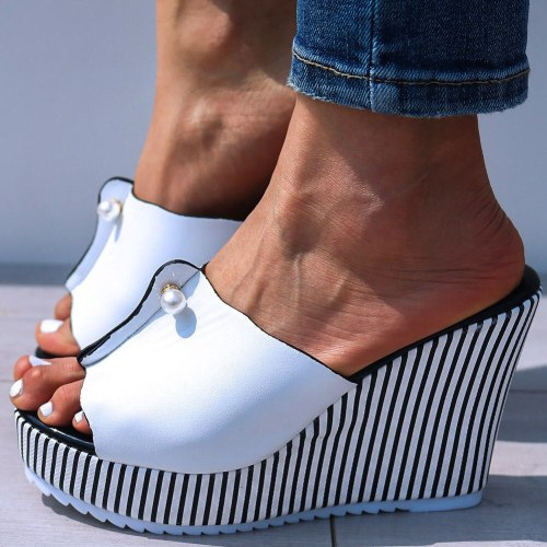 High Heels Leisure Sandal Women Platform Mules Slippers Shoes
