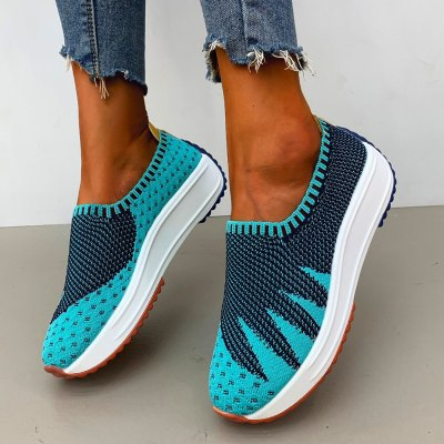 Fashion Breathable Mesh walking Sneakers  Casual Flats Shoes