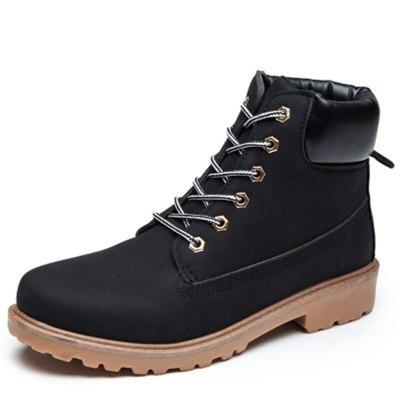 Winter Snow  Women Fur Lining Warm Short Plush Rubber Platform Shoes