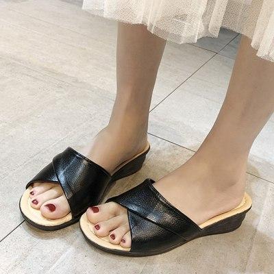 New Fashion Women Slip-On Wedges Open Toe Non-Slip Women Shoes