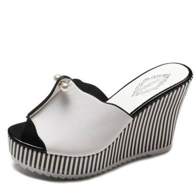 High Heels Leisure Sandal Women Platform Mules Slippers Shoes