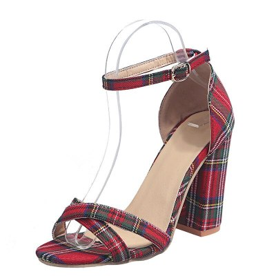 Women Shoes Block Heels Women Suede Buckle Party Sandalias